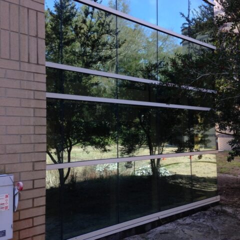 UNCW, Center for Marine Sciences window cleaning